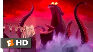 Hotel Transylvania 3 (2018)  Dracula vs the Kraken Scene (910)  Movieclips
