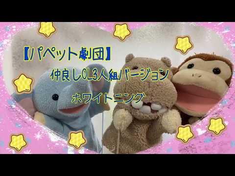 【パペット劇団】仲良しOL3人組バージョン ホワイトニング