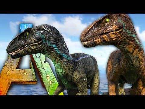 Ark Survival Evolved - NEW Raptor / Saber, Taming! Jurassic Park Nova Raptors - Gameplay