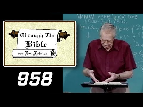 [ 958 ] Les Feldick [ Book 80 - Lesson 3 - Part 2 ] Daniel Part 3: Daniel 4:26-7:8 |b