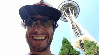 Overly Excited Tourist Goes Nuts In Seattle