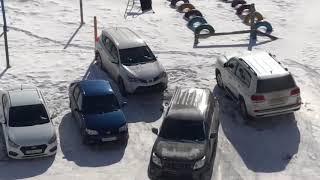 Погром на автостоянке