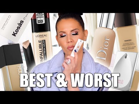 BEST & WORST FOUNDATIONS | Luxury & Drugstore