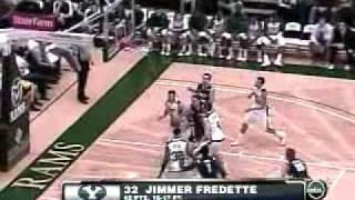 BYU Jimmer Fredette 42 point Outburst vs CSU Highlights