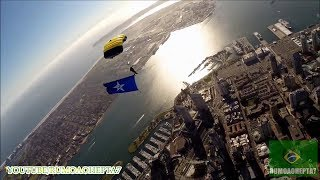 "U.S. Navy Parachute Team ""The Leap Frogs"": Awesome Jump - Belo Salto de Paraquedas"