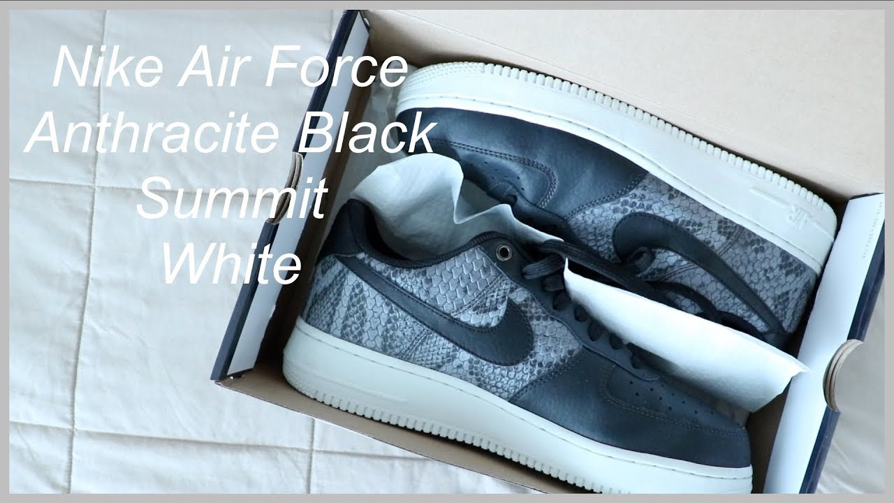 online store 31428 dd253 Nike Air Force Anthracite Black Summit White  Reseña de Fashion   English  Subtitles AVAILABLE