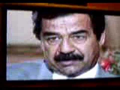 Ironic words from Saddam Hussein