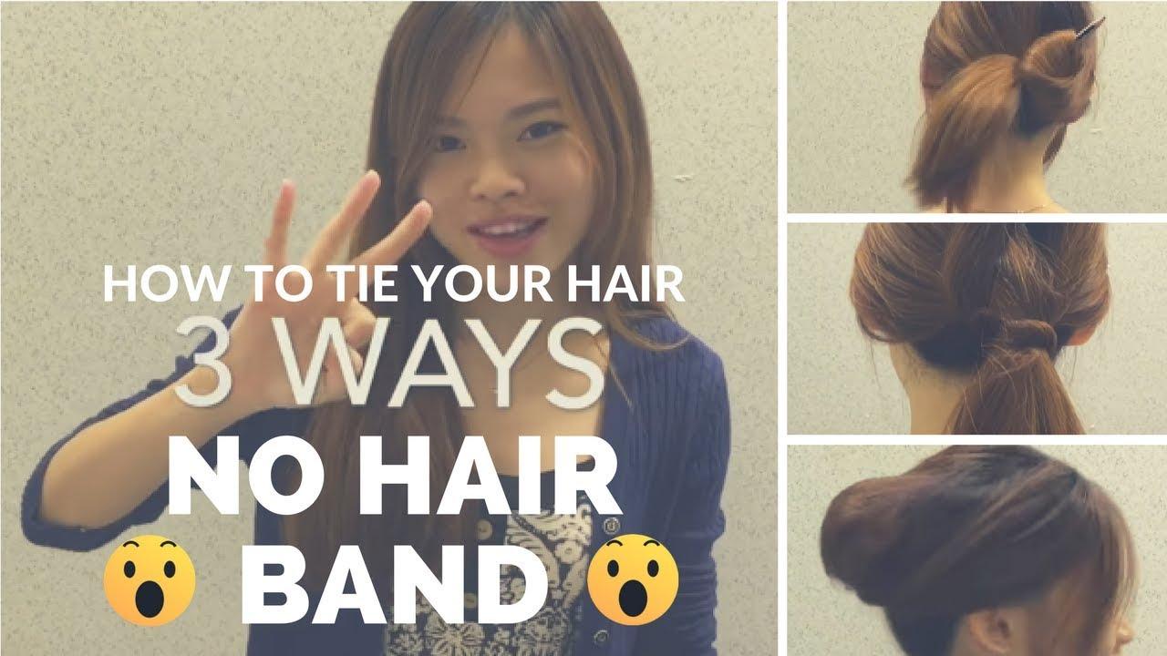 3 No Hairband Hairstyle Youtube