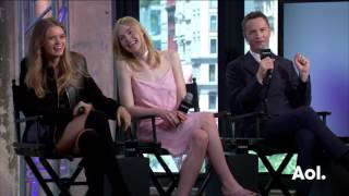 Nicolas Winding Refn, Elle Fanning and Abbey Lee On