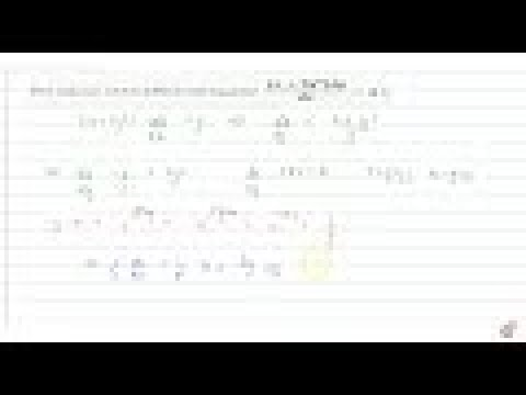 IIT JEE DIFFERENTIAL EQUATIONS The solution of the
