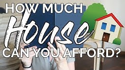 HOW MUCH HOUSE CAN YOU AFFORD? | Buying a home