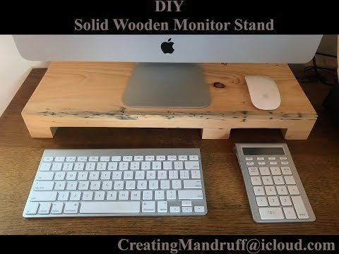 DIY Wooden Computer Monitor Stand