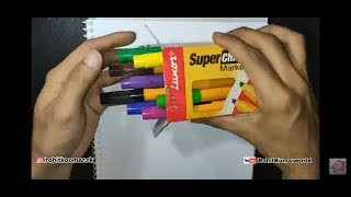 Cheapest and best chisel markers | Luxor Super Chisel Marker Unboxing and Review | RK Artz
