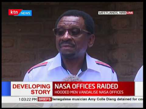 James Orengo reacts after the NASA offices were raided in Nairobi