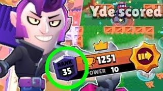 First EVER rank 35 Mortis! / YDE brawl stars