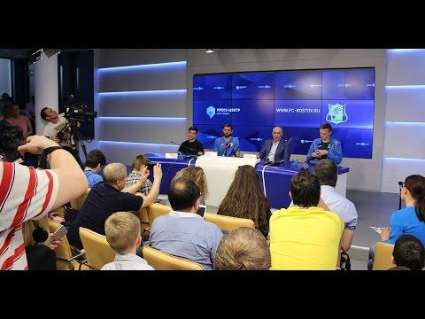 Курбан Бердыев, Александр Гацкан и Дмитрий Полоз в пресс-центре «ДОН-МЕДИА»