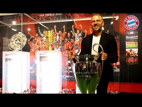 here-comes-the-ucl-trophy!-hansi-flick-completes-the-treble-in-the-fc-bayern-museum