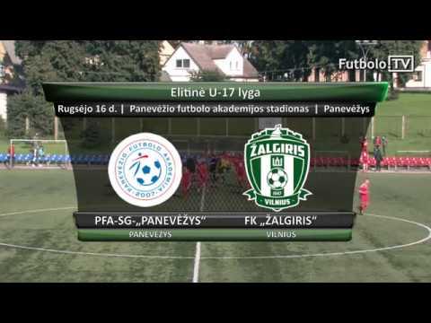 """Elitinė U-17 lyga: PFA-SG-""""Panevėžys"""" -  FK """"Žalgiris"""" (rungtynės)"""
