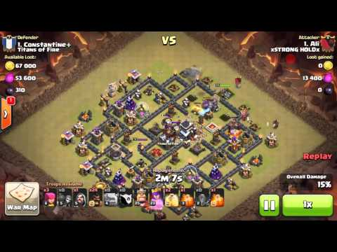 Clash of clans - TH9 Dragon flower/eclipse base - 3 stars