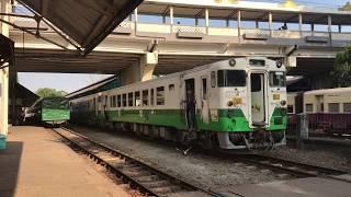 ミャンマー国鉄 キハ48(東北地域色) ヤンゴン環状線 ヤンゴン中央駅 入線