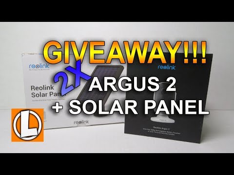 giveaway reolink argus 2 solar panel amazon e gift cards 30 off coupon code youtube. Black Bedroom Furniture Sets. Home Design Ideas