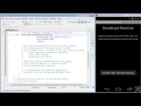 Android App Programming | Broadcast Receiver Concepts And Sample App