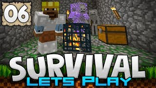 MAKING AN XP FARM MOB GRINDER! - Survival Let's Play Ep. 06 - Minecraft 1.2 (PE W10 XB1)
