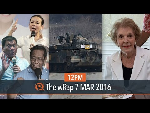 PH 2016 elections, North Korea threats, Nancy Reagan | 12PM wRap