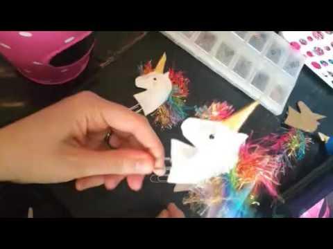 part 2 DIY -unicorn paperclip