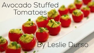 Perfect Healthy Appetizer: Avocado Stuffed Tomatoes