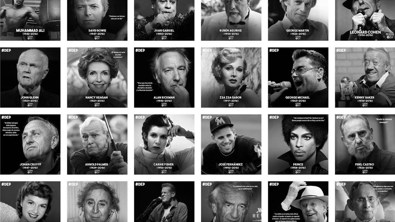 In Memoriam | Famosos que fallecieron en 2016