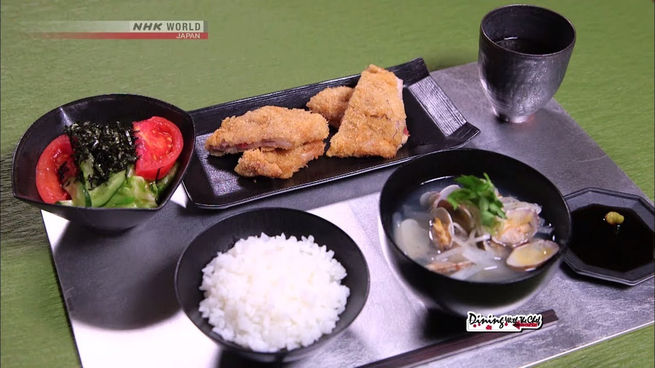 Photo of Chef Rika's Cheese Tonkatsu with Umeboshi [Japanese Cooking] – Dining with the Chef – video