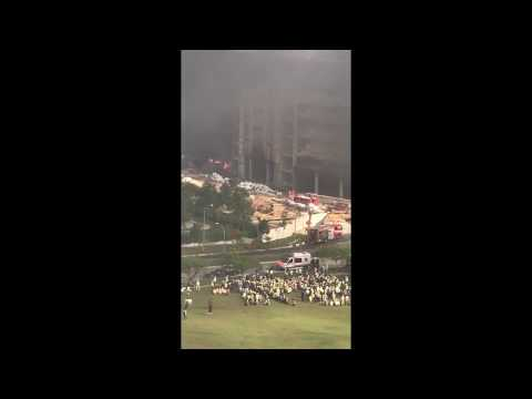 Fire accident at GIS (Global Indian International School) construction site - Punggol