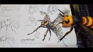 Kaiyodo Giant Hornet Figure Review and Sketch Demo