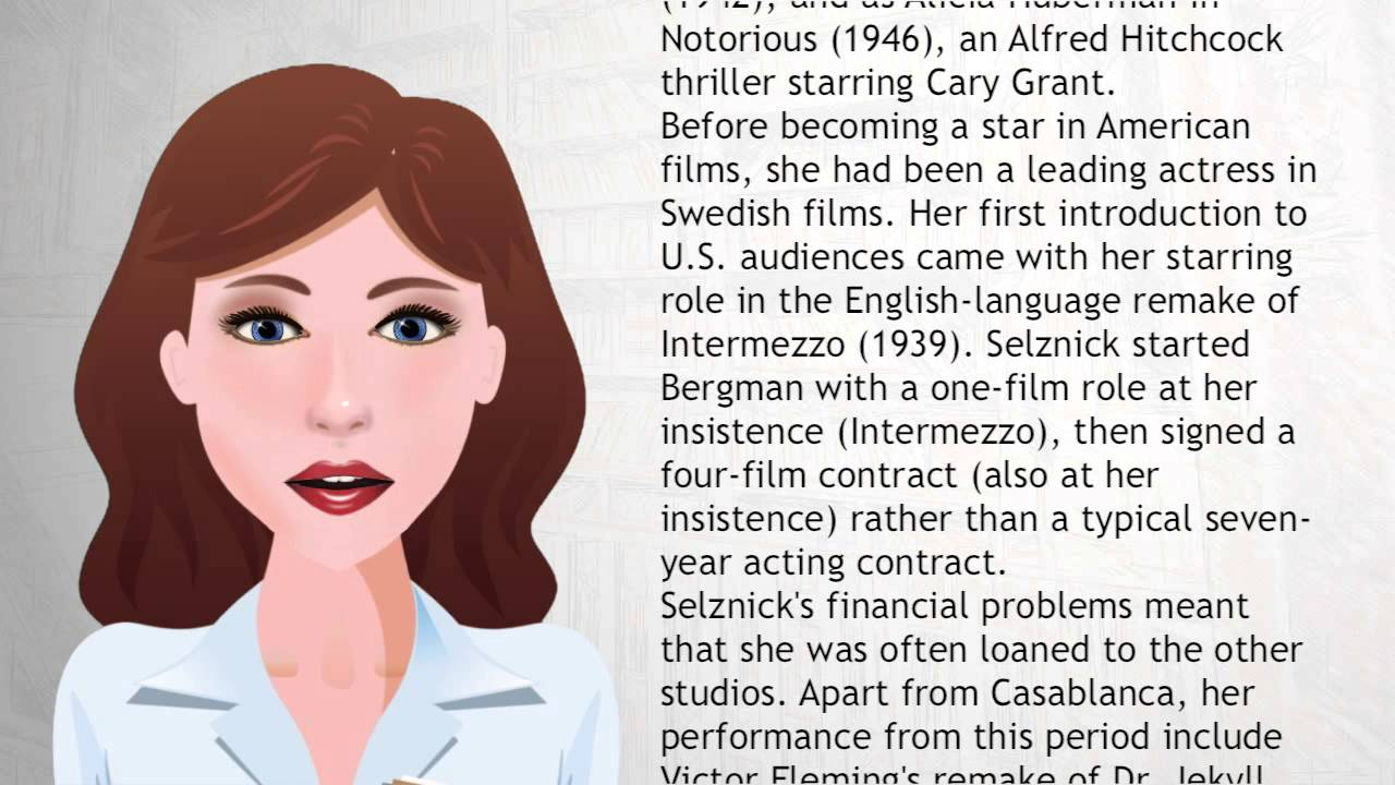 Ingrid Bergman - Wiki Videos - YouTube
