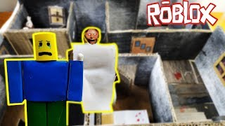 Cardboard game - Roblox vs Granny - Rescue your girlfriend in the ghost house part 1