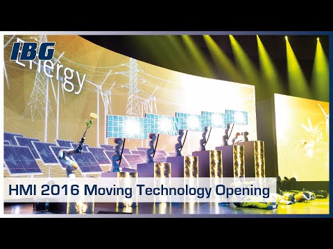 IBG's Moving Technology created a sensational opening event at Hannover Messe 2016