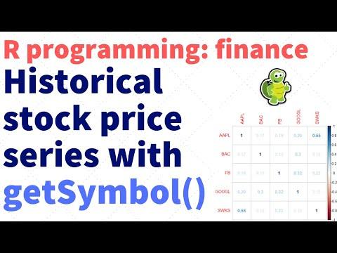 R Programming Finance: Load Historical Stock Price Series (rfinance-01)
