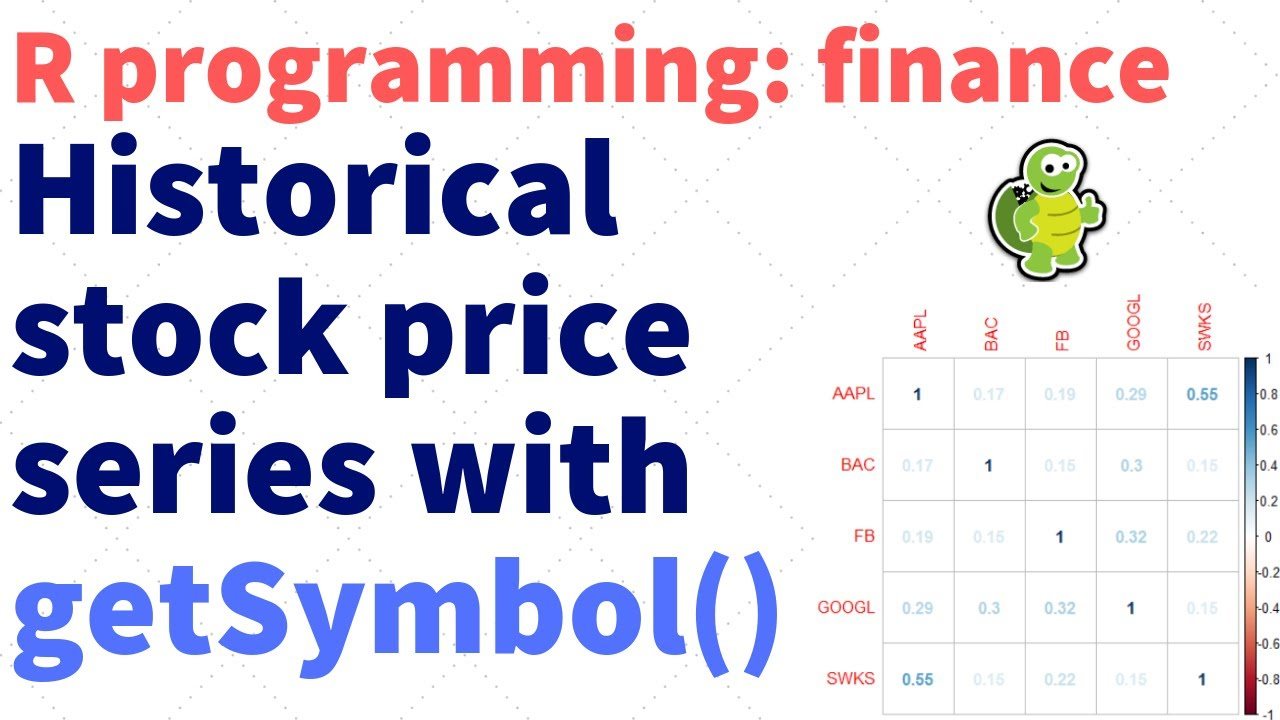 R Programming Finance: Load historical stock price series (rfinance-01)
