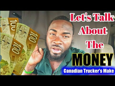 HOW MUCH MONEY DO TRUCK DRIVERS MAKE IN CANADA AFTER TAXES AS COMPANY DRIVER. Vlog #31
