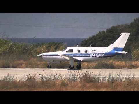 Piper PA-46-310P Malibu take-off from Rhodes Airport LGRP