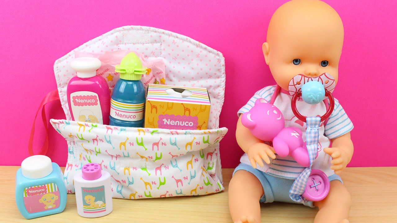 Nenuco bolso cambiador famosa mu eca bebe nenuco en - Como hacer un cambiador para bebes ...