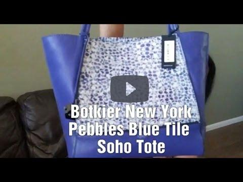 f40b63ea7 Botkier Pebble Blue Tile Soho Tote Review - YouTube