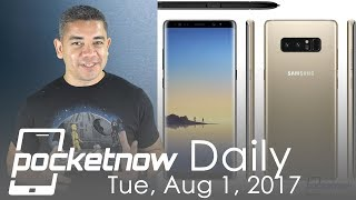 Samsung Galaxy Note 8 final renders, iPhone 8 display info & more   Pocketnow Daily
