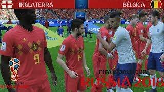 INGLATERRA x BÉLGICA - Fifa World Cup Rússia 2018 (Jogo Simulado) - 28.06.2018