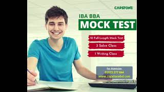 IBA BBA Mock Test 2021