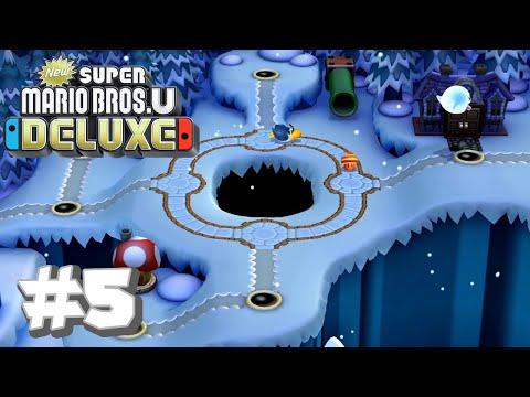 New Super Mario Bros U Deluxe #5 - Frosted Glacier (Part 1)