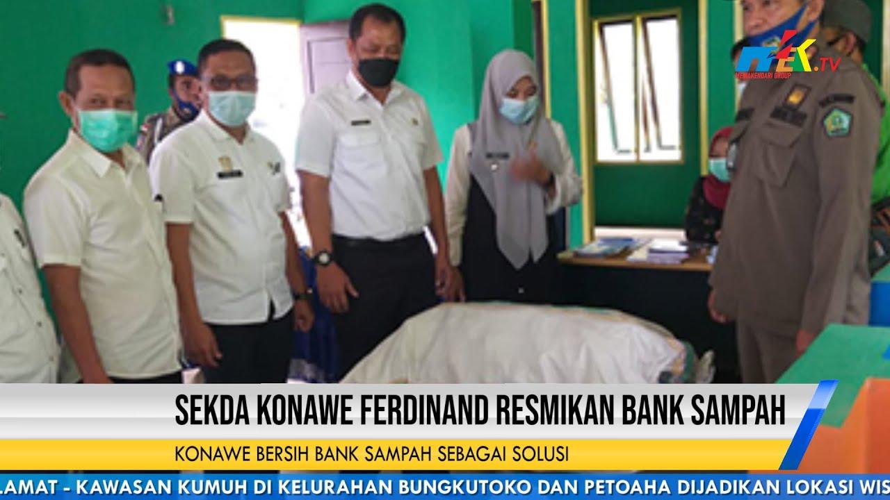 Sekda Konawe Ferdinand Resmikan Bank Sampah
