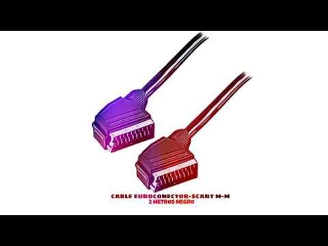 Cable euroconector-Scart Macho Macho 1.5 Metros Negro Cablepelado/®