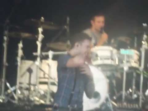 McFly Kick Boxing On Stage In Rhyl